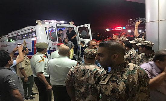 عدد من جرحى غزة يغادرون الاردن بعد اتمامهم العلاج