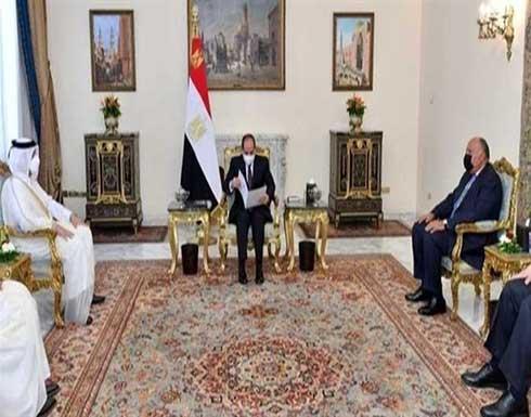 الرئيس المصري يتسلم دعوة من أمير قطر لزيارة الدوحة