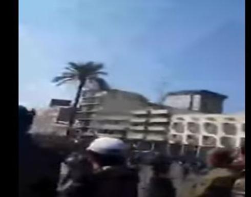 اشتباكات القوات الامنية مع المتظاهرين في بغداد