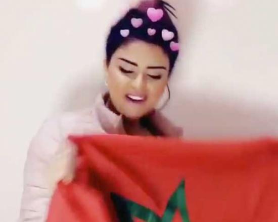 شاهد… سلمى رشيد تحتفل بفوز المنتخب المغربي بكأس إفريقيا للمحليين
