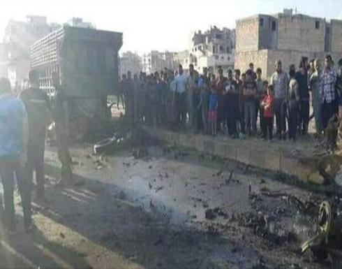 شاهد : جرحى جراء انفجار سيارة مفخخة في مدينة الباب السورية