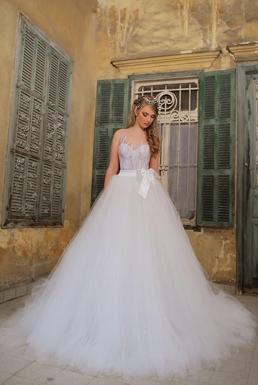 a23d36667 بالصور :- فساتين زفاف ساره مراد 2015