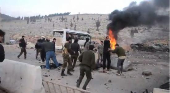 بالفيديو : انفجار يهز معبر باب الهوا الحدودي بين تركيا وسوريا