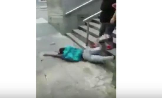 تحذير .. فيديو : طالب مدرسة يتناول المخدرات شاهدوا ما حصل له