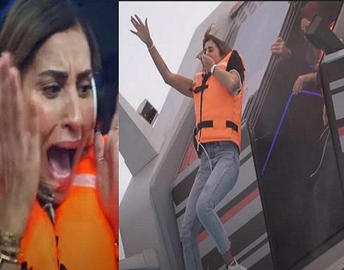 """إصابة دينا الشربيني في """"رامز عقله طار"""".. فيديو"""