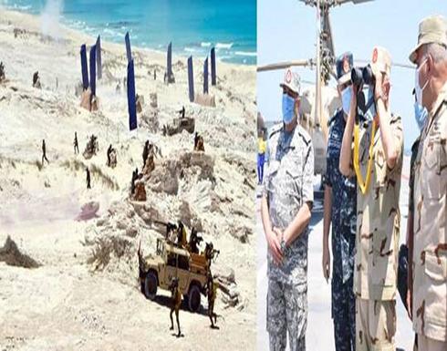 """الجيش المصري يعلن عن مناورات على حدود ليبيا مرتبطة بـ""""متغيرات حادة وسريعة"""""""