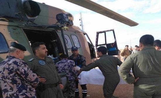 بالصور : الملك يوجه بارسال طائرة إخلاء طبي لـ 4جنود عراقيين