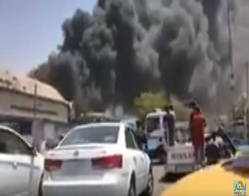 العراق:حريق ضخم شرقي بغداد