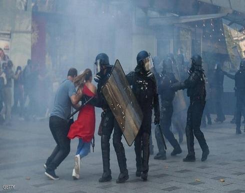 """تظاهرات باريس.. اعتقال العشرات وتفريق المحتجين بـ""""الغاز"""""""
