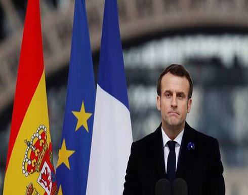 ماكرون: نقف إلى جانب إيطاليا في مكافحة كورونا