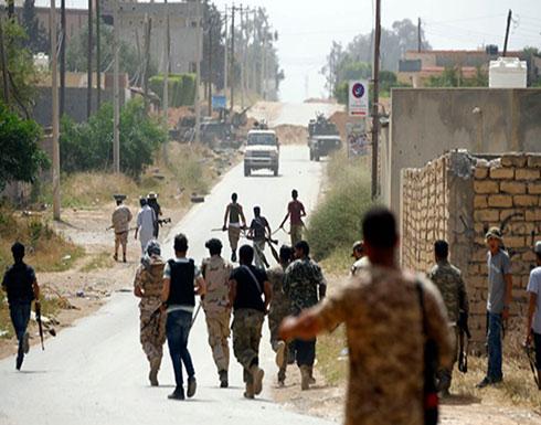 """تجدد الاشتباكات بين """"الوفاق"""" وحفتر جنوب طرابلس"""