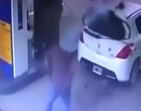 الأرجنتين : انفجار في محطة وقود يفضح مهرب مخدرات (فيديو)