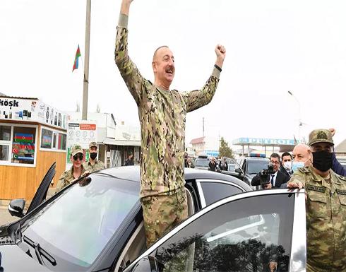 رئيس أذربيجان وزوجته يزوران المناطق التي استعيدت من الأرمن .. بالفيديو