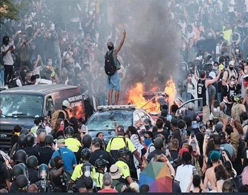 شاهد : احتجاجات امريكا وعمليات السلب والنهب
