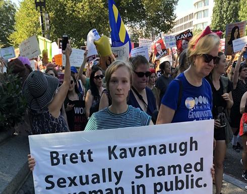 """مظاهرات بواشنطن احتجاجا على مرشح ترامب لـ""""العليا"""" (شاهد)"""