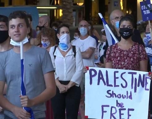 شاهد : الإسرائيليون يحتجون ضد الضم