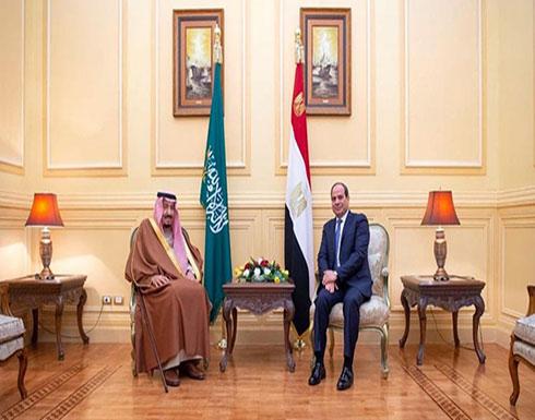 السيسي يؤكد على التشاور والتنسيق مع العاهل السعودي
