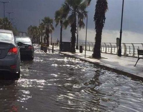 شاهد .. بيروت تغرق في مياه المجاري
