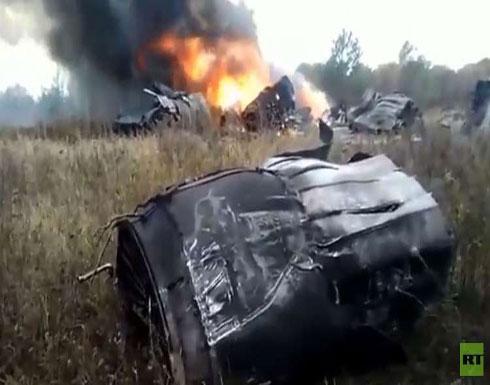 شاهد .. لحظة تحطم المقاتلة الروسية ميغ 29