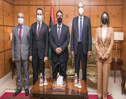"""ليبيا.. المنفي يبحث مع وزير خارجية إيطاليا تفعيل """"اتفاقية الصداقة"""""""