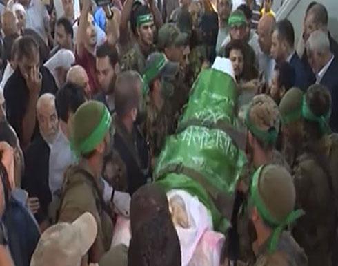 شاهد : تشييع جنازة أحمد نمر حمدان أحد مؤسسي حركة حماس في غزة