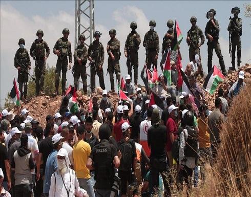 إصابة عشرات الفلسطينيين بمواجهات مع جيش الاحتلال بالضفة
