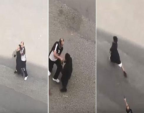 شاهد: مشاجرة بين شخصين بالسعودية وأحدهما يطلق النار على الآخر