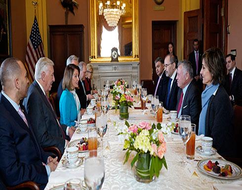 الملك عبد الله  يواصل اجتماعاته في الكونغرس الأمريكي