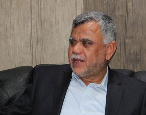 """قائد """"بدر"""": لولا وجود إيران وسليماني لكانت حكومة العبادي بالمنفى"""