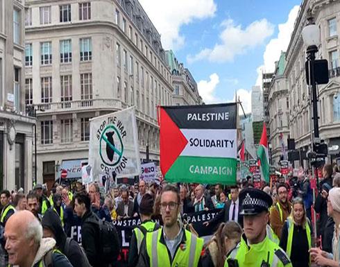 بالفيديو : بدء فعاليات ذكرى النكبة بلندن بمسيرة إلى مقر الحكومة