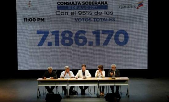 مشاركة كثيفة في الاستفتاء ضد الرئيس مادورو