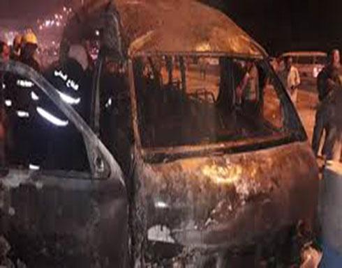 شاهد : تفجير ارهابي في كربلاء. بالقرب من مدخل سيطرة 54
