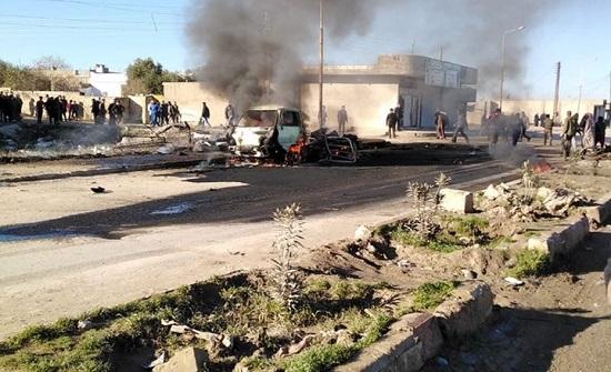 """انفجار """"مفخخة"""" قرب حاجز للمعارضة السورية في رأس العين"""