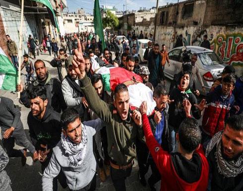 غزة.. تشييع جثمان فلسطينية استشهدت برصاص إسرائيلي