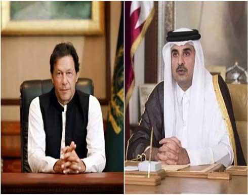 عمران خان وامير قطر يبحثان العلاقات الثنائية وتطورات الأوضاع بأفغانستان