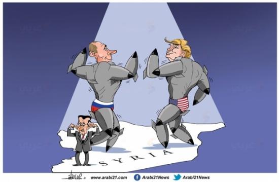 الصراع الأمريكي الروسي في سوريا