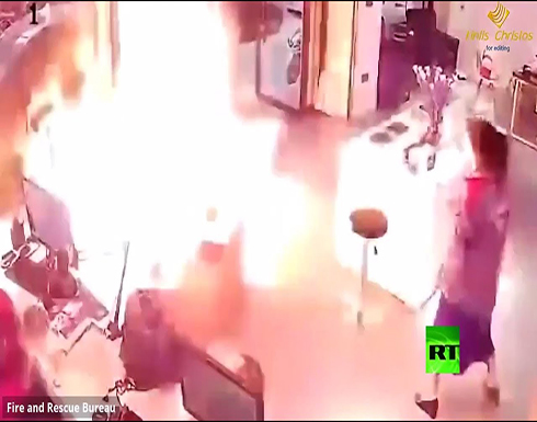 بالفيديو : لحظة انفجار بطارية أثناء شحنها في الصين
