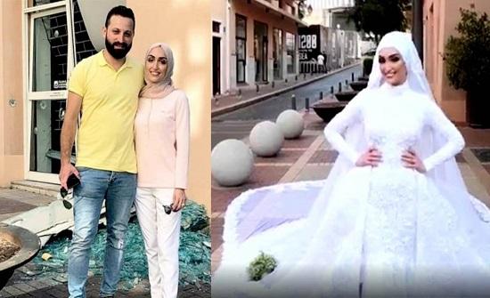 """""""عروس بيروت"""" تروي لحظات الرعب وقت وقوع الانفجار (فيديو)"""