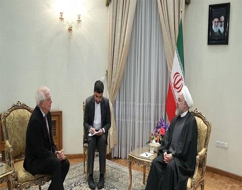روحاني يستقبل منسق السياسة الخارجية في الاتحاد الأوروبي