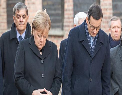 للمرة الرابعة.. شاهد: لحظة تعرض المستشارة الألمانية أنجيلا ميركل لرعشة