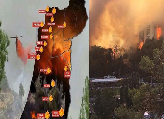"""بالصور.. هل ينجح """"الأبطال الستة"""" في إخماد حرائق إسرائيل"""