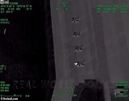 شاهد.. وفاة سائق متهور بعد اصطدامه بطائرة f-18 في مطاردة أمنية