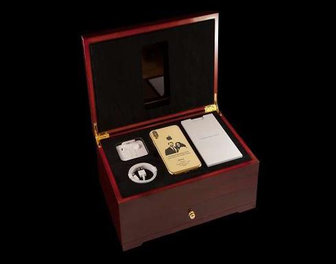 نسخة ذهبية من آيفون إكس تحمل صورة الأمير هاري وميغان ماركل