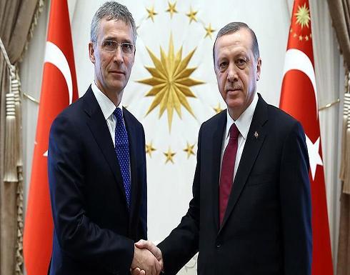 انتهاء لقاء أردوغان وتشاووش أوغلو بستولتنبرغ في أنقرة