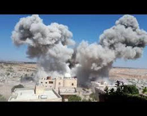 شاهد : قصف الجوي المكثف على تلمنس بريف إدلب