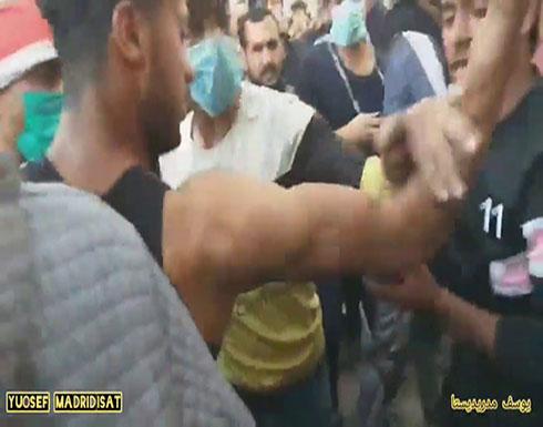 شاهد : اطلاق رصاص حي مظاهرات الناصريه اليوم السبت في العراق