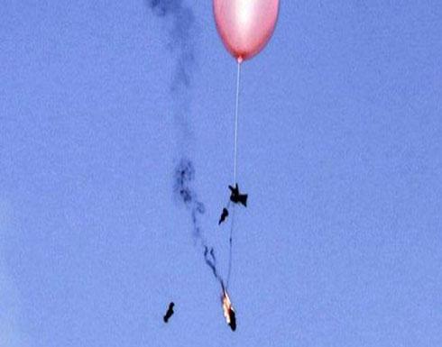 الاعلام العبري:بالون حارق يسقط بمنزل عضو كنيست في احدى مستوطنات غلاف غزة