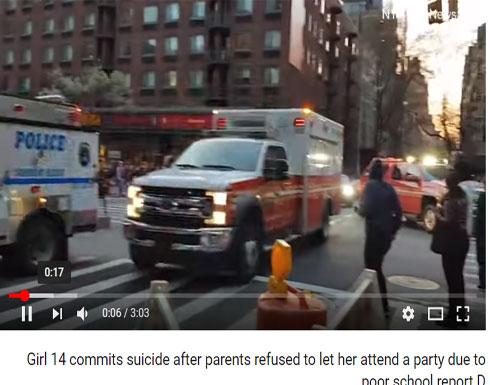 بالفيديو: منعها والداها من الذهاب لحفلة.. فرمت بنفسها من الطابق 15