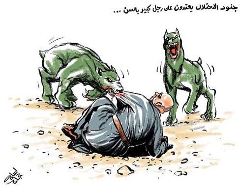 جنود الاحتلال يعتدون على رجل كبير بالسن…