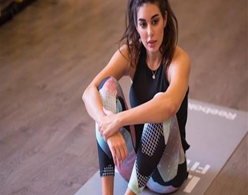 صورة : ياسمين صبري تتحدى نفسها بتمرين صعب